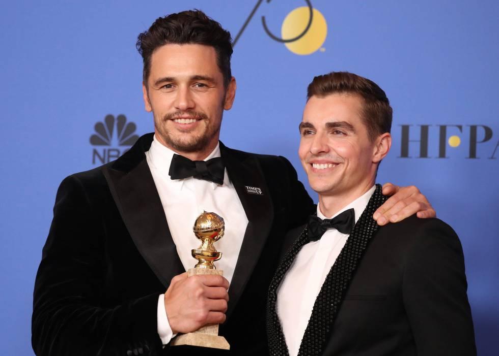 Los hermanos James y Dave Franco, en la pasada entrega de los Globos de Oro.