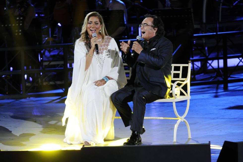 Romina Power y Albano, en una actuación.