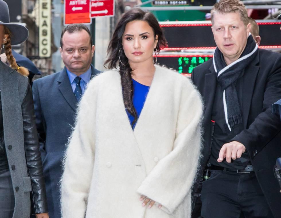 Demi Lovato, este miércoles a su llegada al programa 'Good Morning America'.