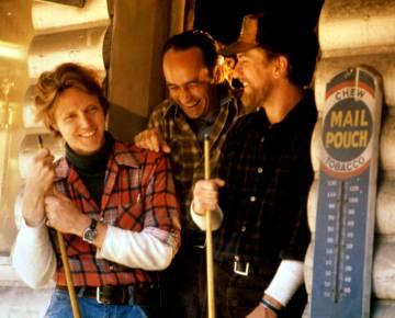 Christopher Walken, John Cazale y Robert De Niro durante el rodaje de 'El cazador' (1978).