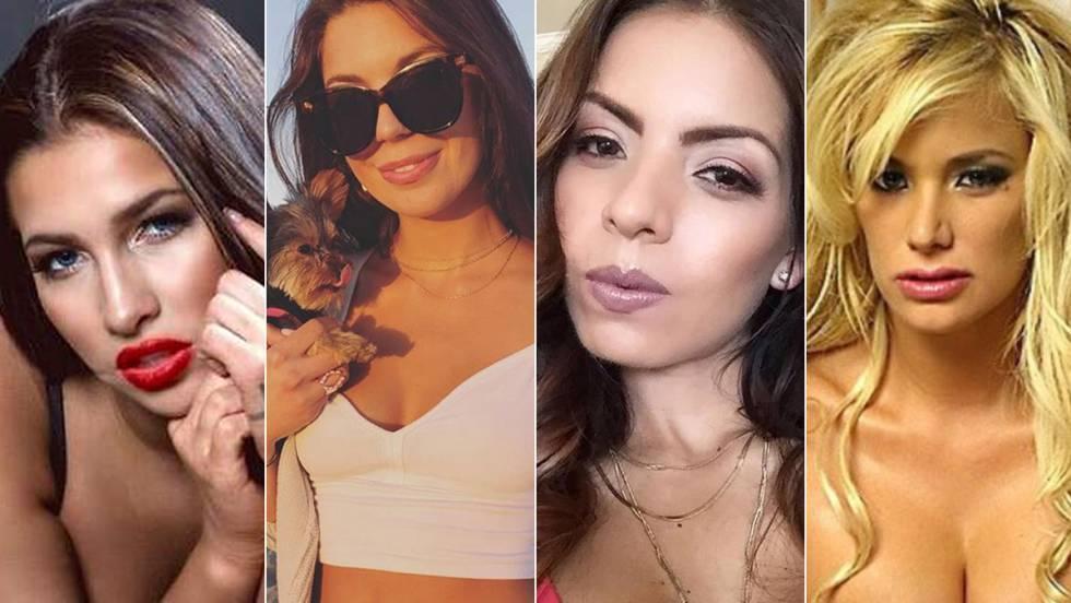 De esquerda a direita, Olivia Nova, Olivia Lua, Yuri Luv e Shyla Stylez.