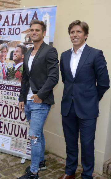 Los toreros, y hermanos, Julio Benítez y Manuel Díaz, el pasado mayo en Palma.