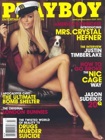 Crystal Harrys en una portada de 'Playboy'