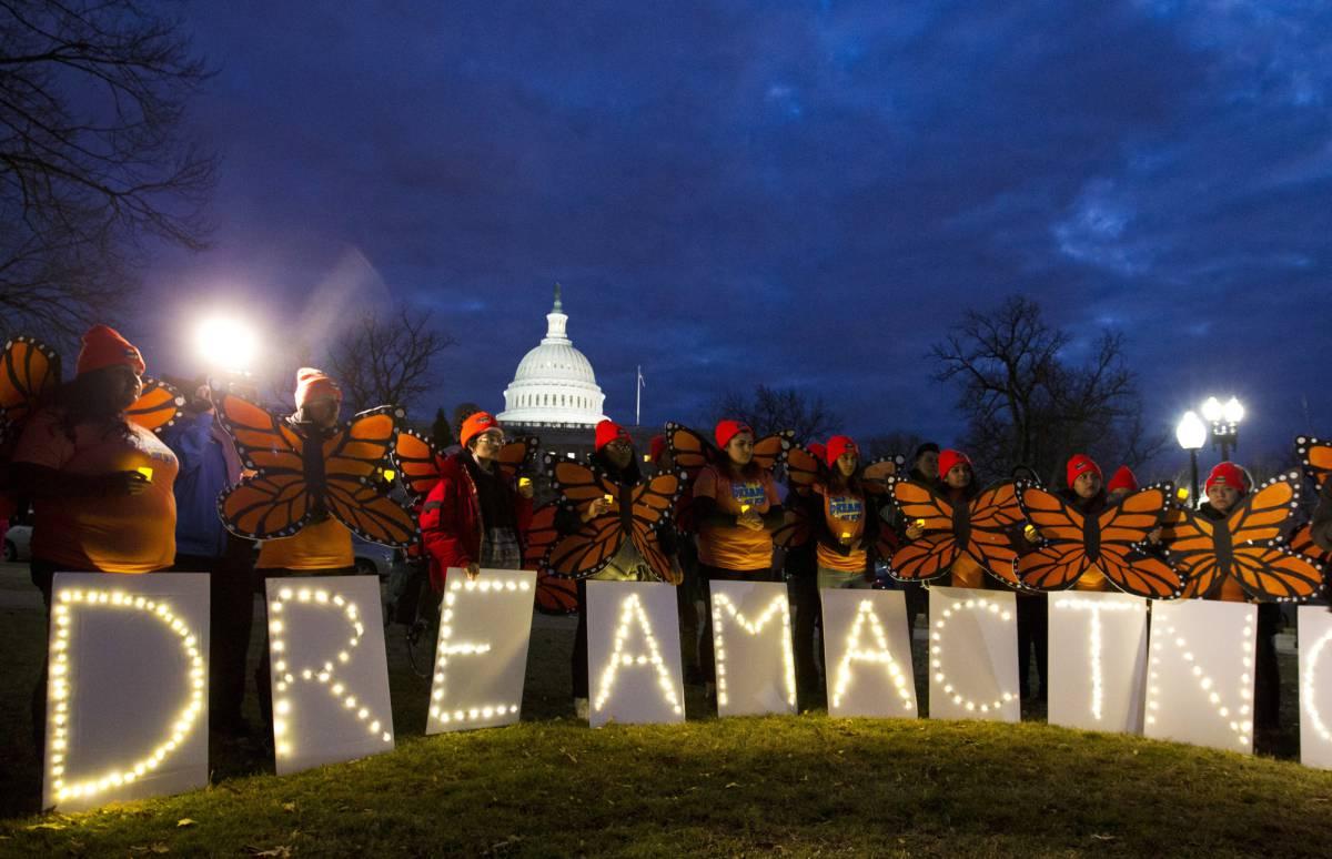 Manifestación en Washington a favor del programa DACA que protegía a los inmigrantes de la deportación.