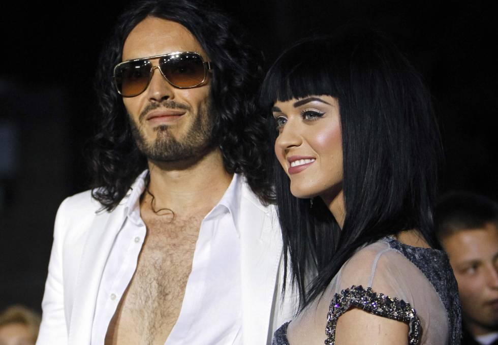 Katy Perry y su exmarido Russell Brand, en 2010.