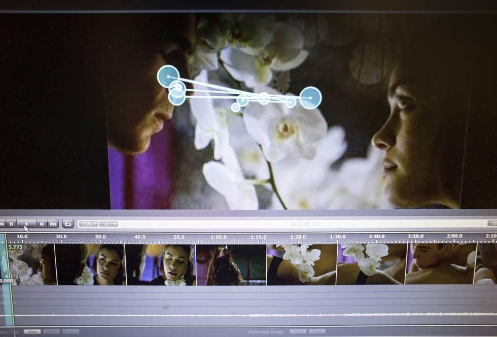 Um computador mostra o software com o que Nobre estuda a reação a diferentes estímulos, como a pornografia.