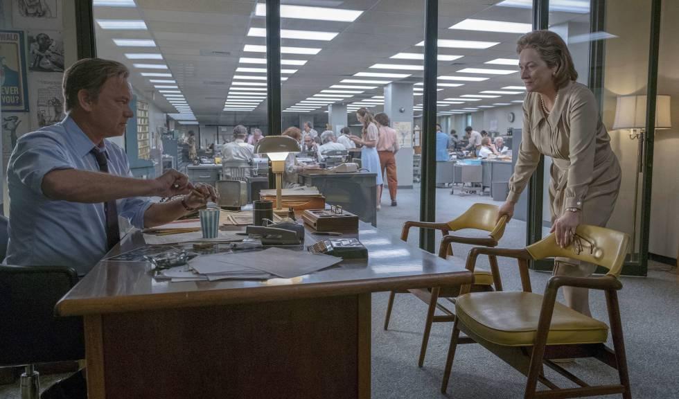 Tom Hanks y Meryl Streep, en un fotograma de la película 'Los archivos del Pentágono'.