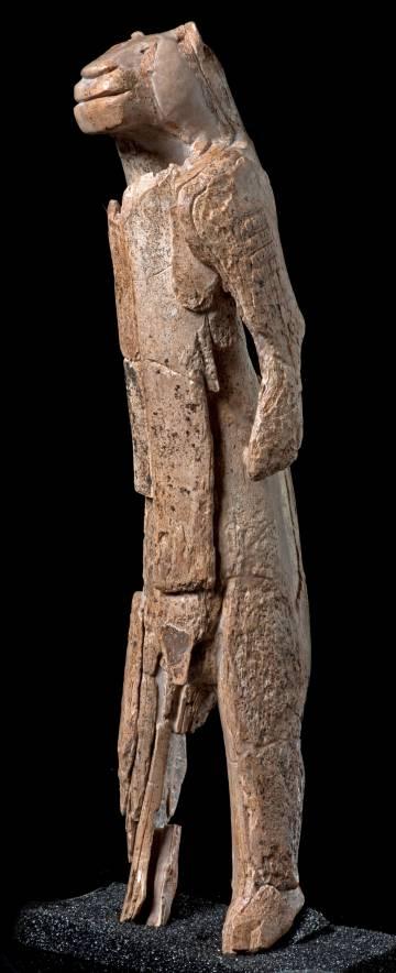 A figura Löwenmensch (o homem leão).