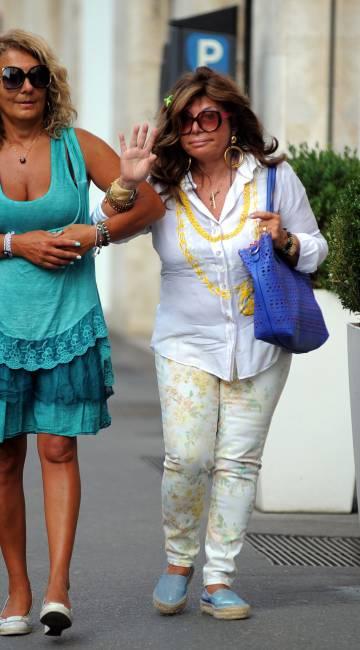 Patrizia Reggiani, la viuda negra de Italia, en Milán en 2017.