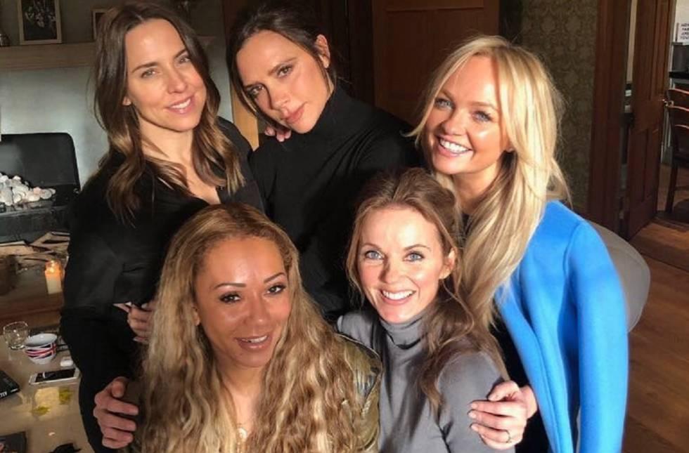 Las Spice Girl al completo: Mel C, Victoria Beckham, Emma Bunton, Geri Halliwell y Mel B.rn