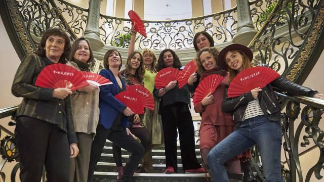 Nueve cineastas españolas muestran este viernes en Madrid el abanico de los invitados a los Goya.