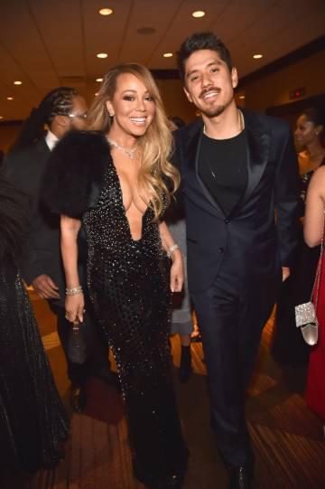 La cantante Mariah Carey con el bailarín Bryan Tanaka el pasado 27 de enero en Nueva York.