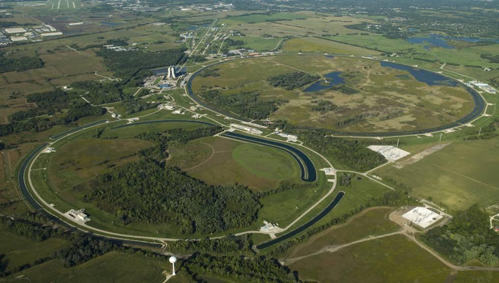 Vista aérea del complejo de aceleradores de Fermilab, en EE UU.