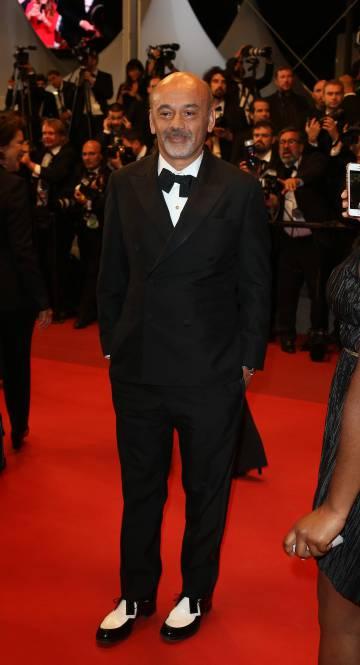 Christian Louboutin, en la alfombra roja del pasado Festival de Cine de Cannes.