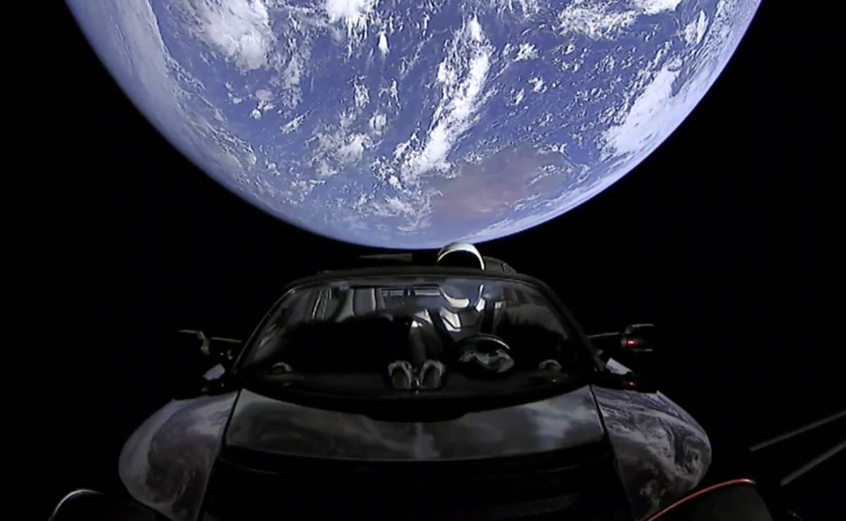 Fotograma del vídeo con el que SpaceX ha promocionado el lanzamiento de su cohete.