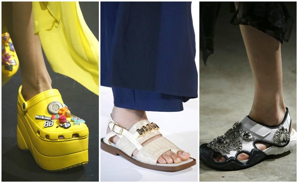 6e738791e De izquierda a derecha  Crocs de Balenciaga y zapatos de Stella McCartney y  Christopher Kane