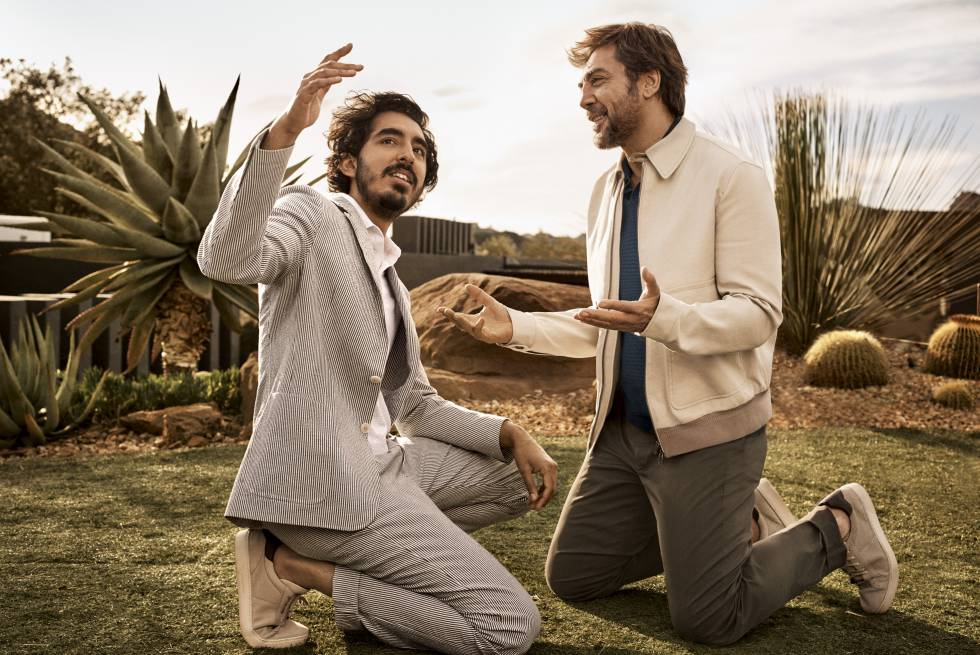 Dev Patel y Javier Bardem, en la nueva campaña de Ermenegildo Zegna.