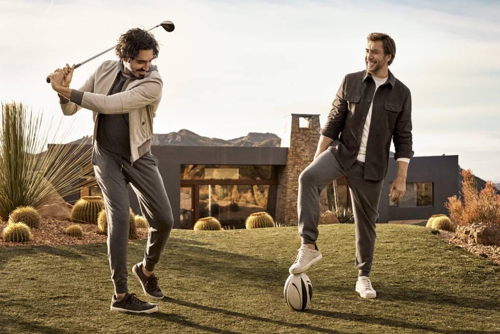 Dev Patel y Javier Bardem compartiendo su pasión por el deporte en la campaña fotografiada por Craig McDean.