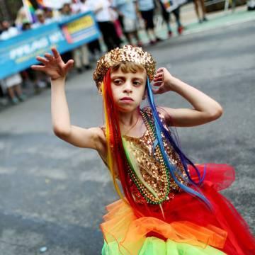 Desmond Napoles durante su participación en la Semana del Orgullo Gay en Nueva York.