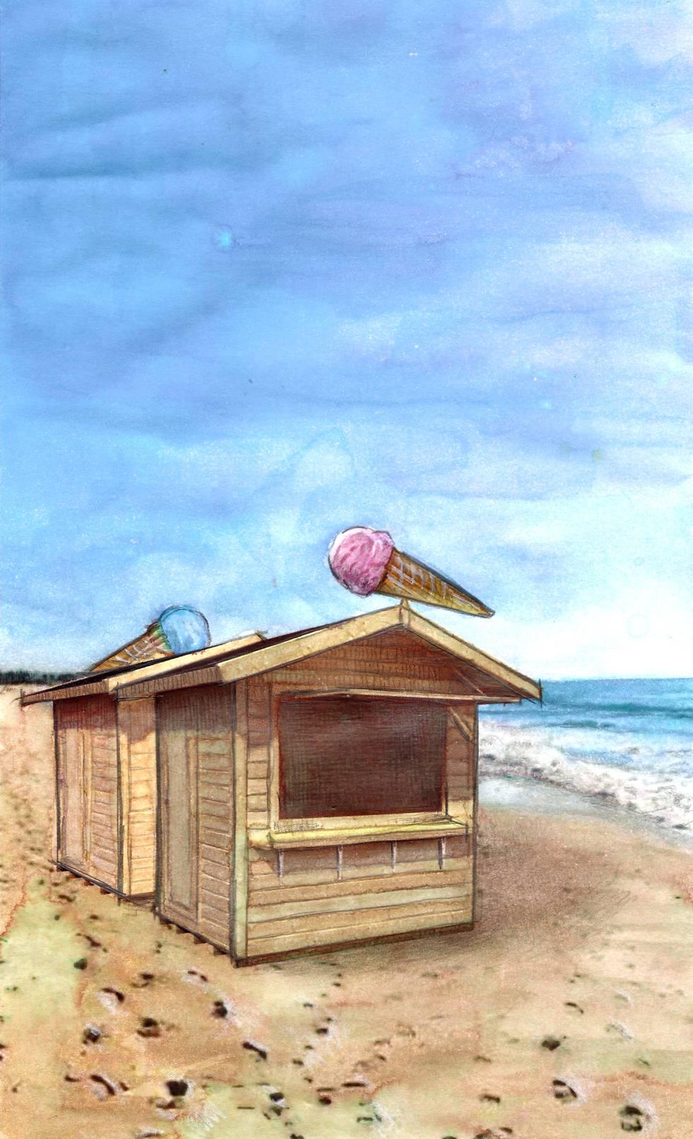 La playa política