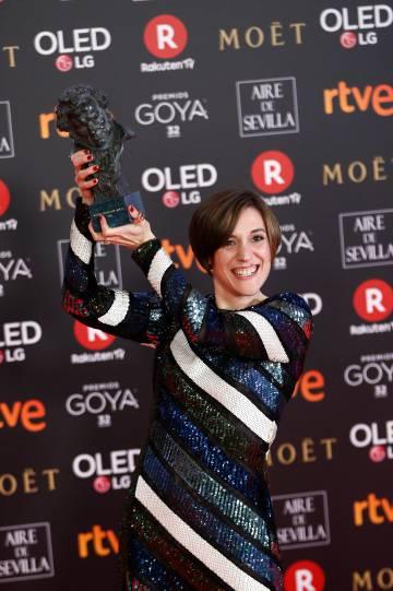 Carla Simón, el 3 de febrero, con su Goya a la mejor dirección novel.