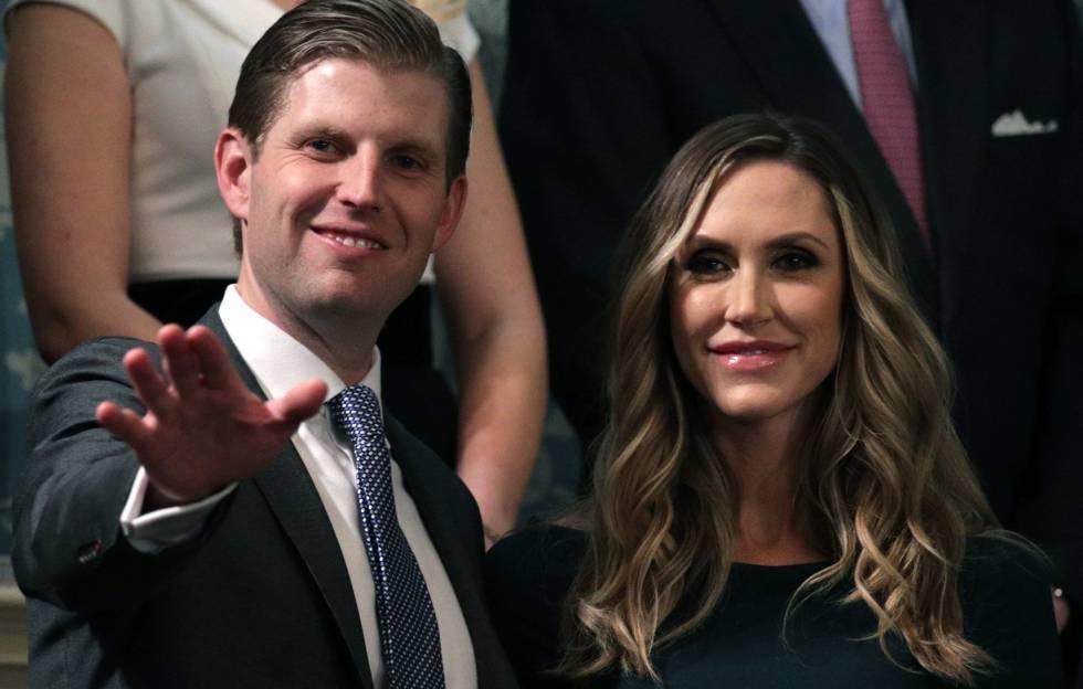 Eric Trump y su esposa Lara Trump el pasado 30 de enero en Washington.