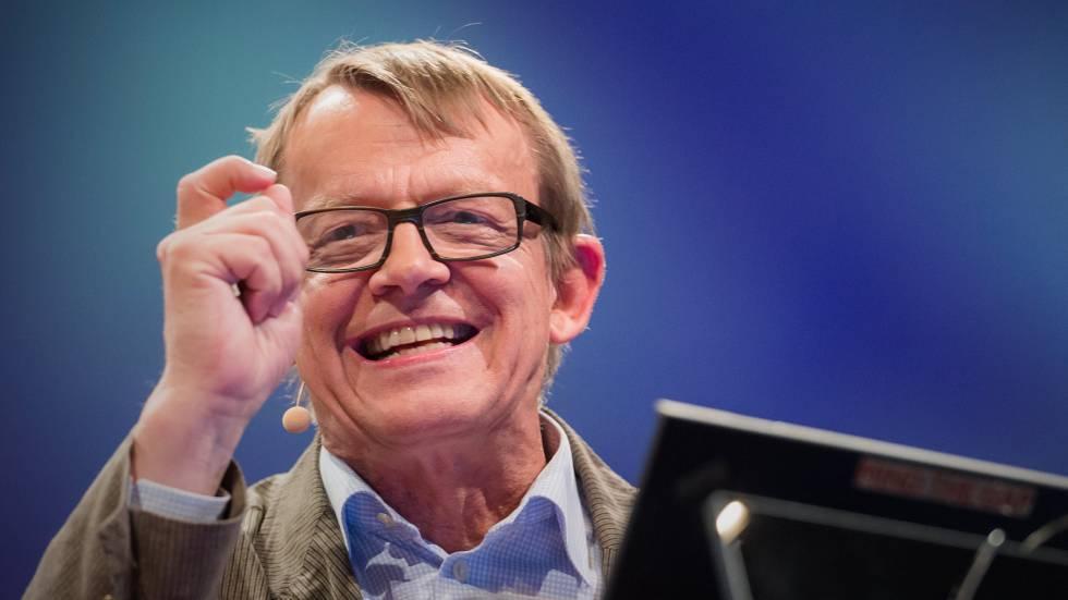 Hans Rosling, durante una charla.