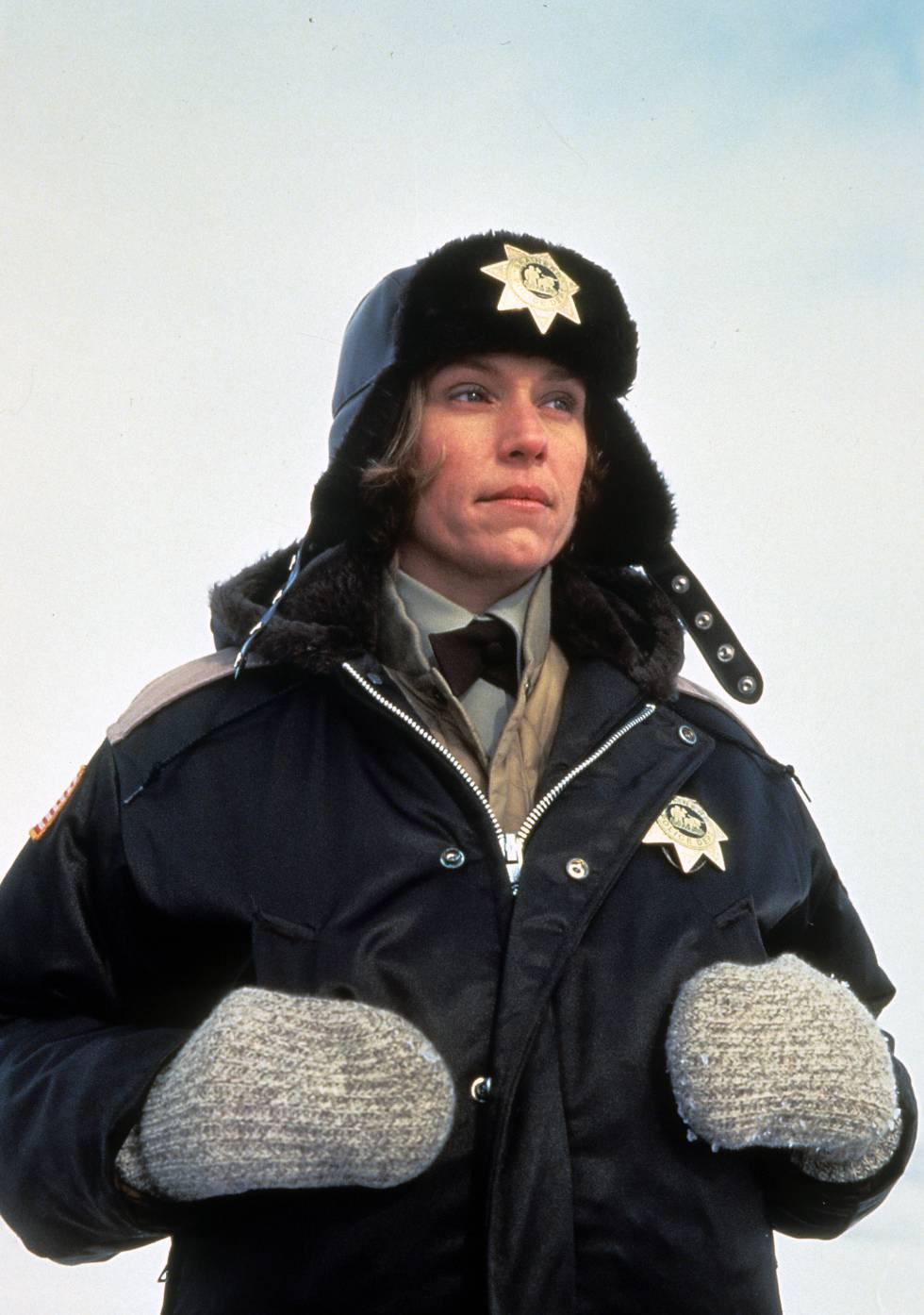 Frances McDormand, en un plano de Fargo (1996), de Joel y Ethan Coen.