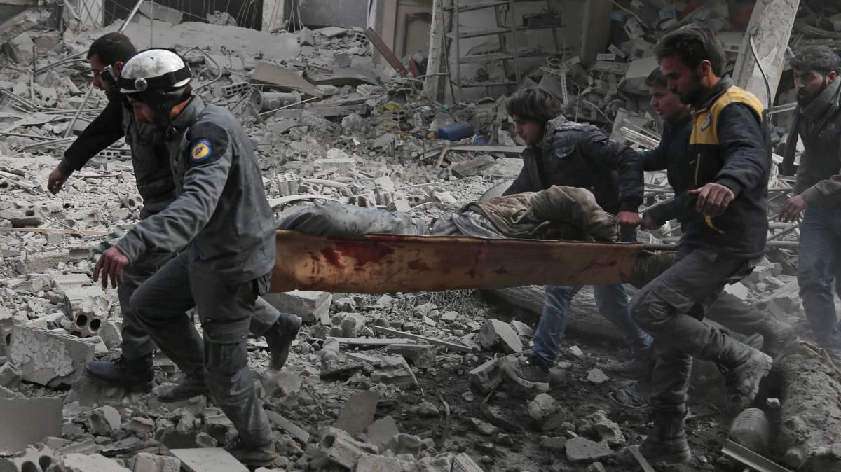 Bombardeos del régimen sirio en Guta Oriental, en imágenes