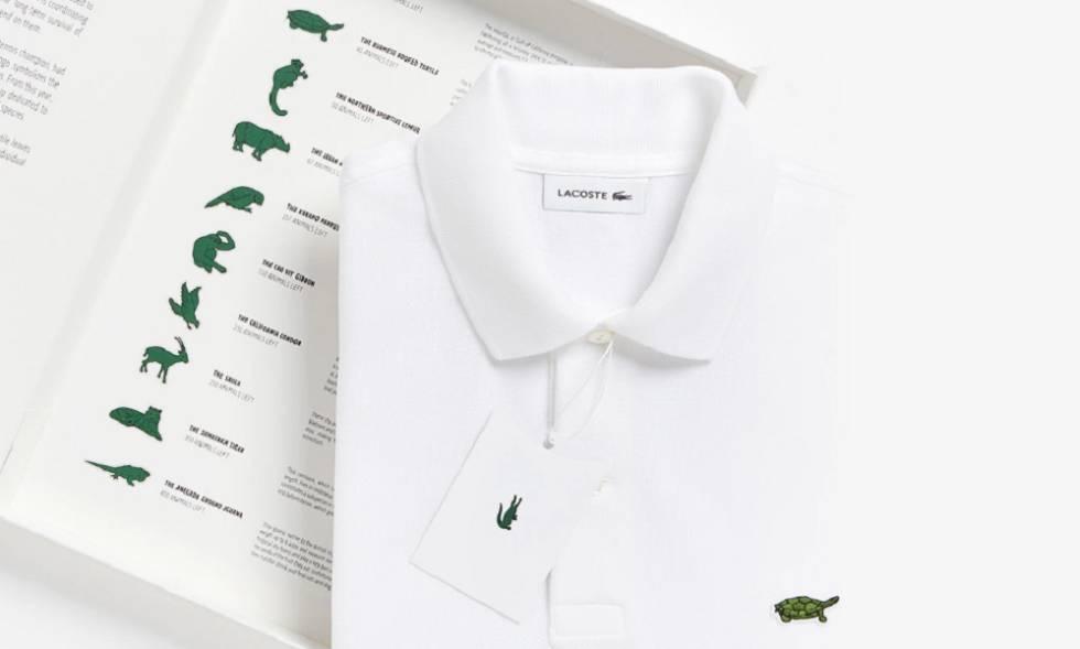Un polo Lacoste de la colección limitada con logos de animales en peligro. c4938658772a1