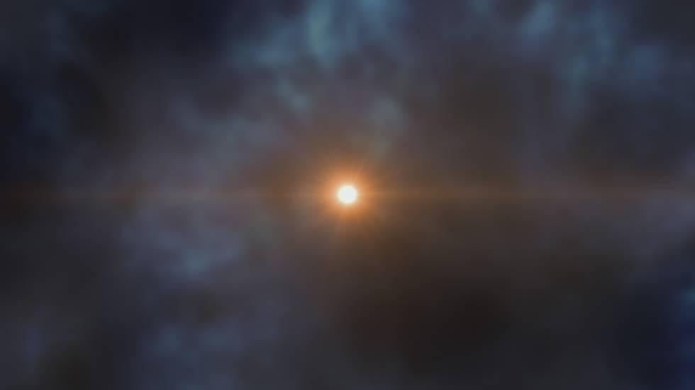 Recreación artística de la nueva estrella descubierta