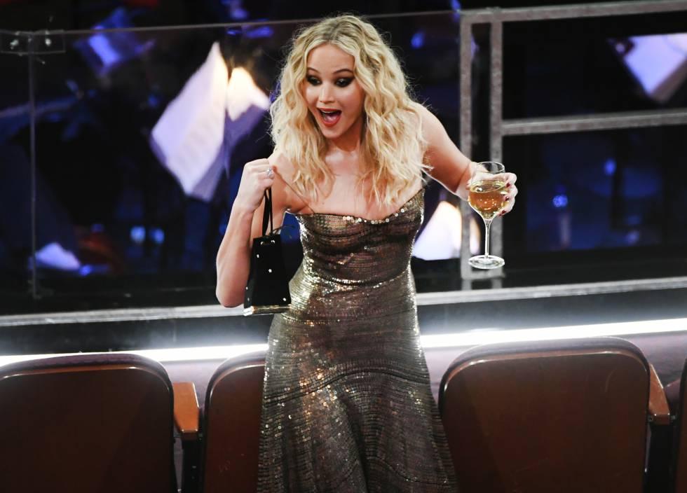 Jennifer Lawrence en los Oscars