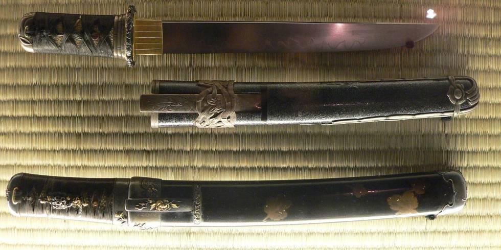 'Tanto', las dagas usadas por los samuráis para cometer 'seppuku'.