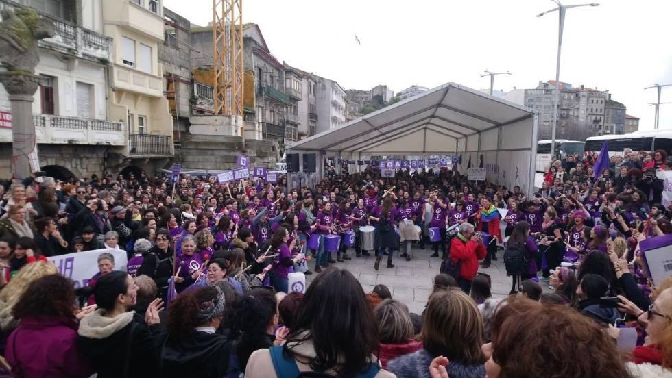 Manifestación feminista en Vigo el pasado domingo.
