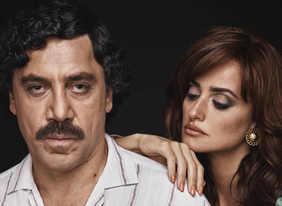Javier Bardem and his wife, Penélope Cruz, in character as Pablo Escobar and Virginia Vallejo.