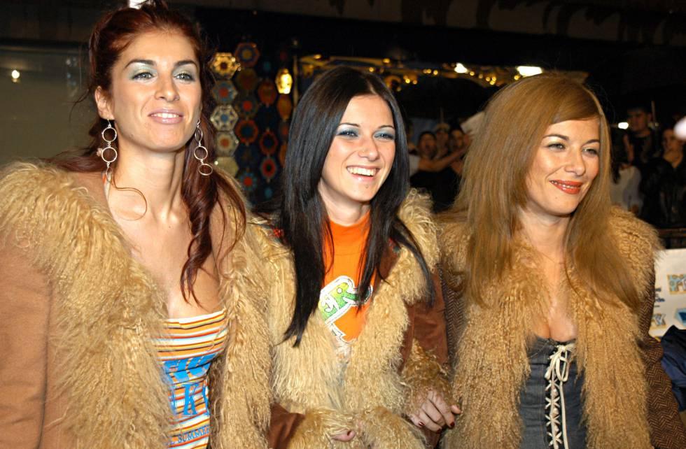 Las Ketchup, tan felices con su 'Aserejé', durante los Premios MTV en 2002 en el Palau Sant Jordi de Barcelona.