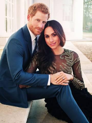 Retrato oficial de Enrique de Inglaterra y Meghan Markle.