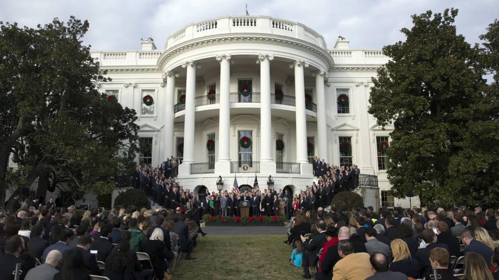 Donald trump p nico en la casa blanca opini n el pa s - Fotos de la casa blanca por fuera ...