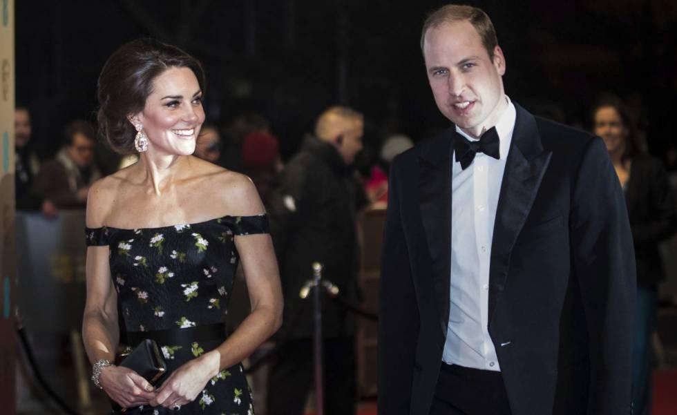 Los duques de Cambridge, en los premios BAFTA 2017, celebrados en Londres.