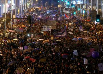 Spanish cities host historic marches to demand end to gender discrimination