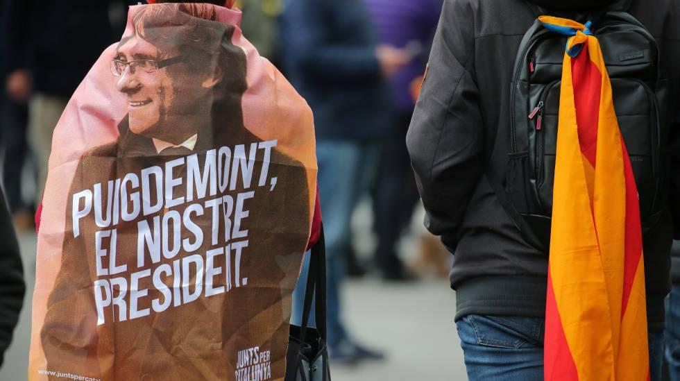 4076942195 Manifestación este domingo en Barcelona contra la detención de Puigdemont.