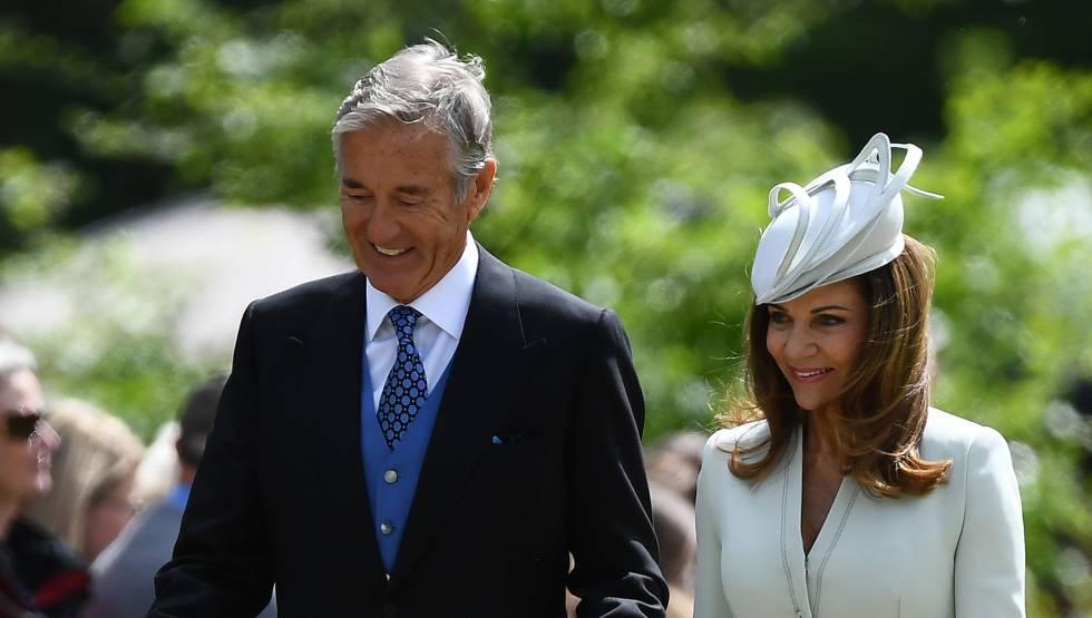 David y Jane Matthews, en 2017 en la boda de su hijo y Pippa Middleton.