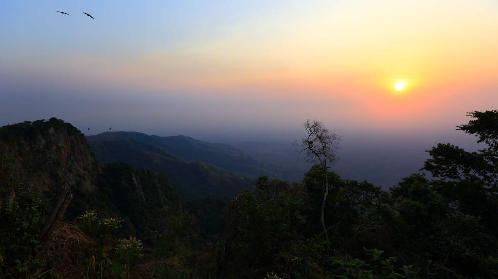 Montañas del parque nacional de Boma, en Sudán del Sur, donde reside el pueblo kachipo.