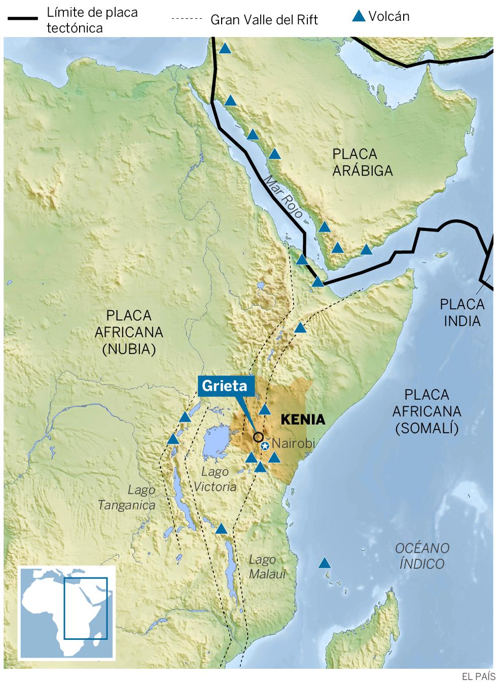 Una grieta kilométrica recuerda que África se está dividiendo en dos