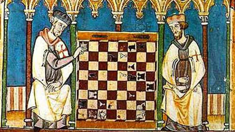 Imagen incluida en el 'Libro de ajedrez, dados y tablas de Alfonso X el Sabio'.