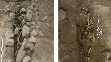 Tumbas halladas en Nimes, con el cadáver enterrado según el rito musulmán.