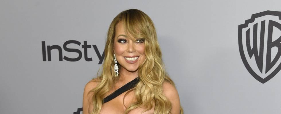 Mariah Carey en la fiesta de los Grammy de 2018.