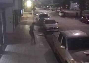 Security camera captures Brazilian thief run over by own getaway car