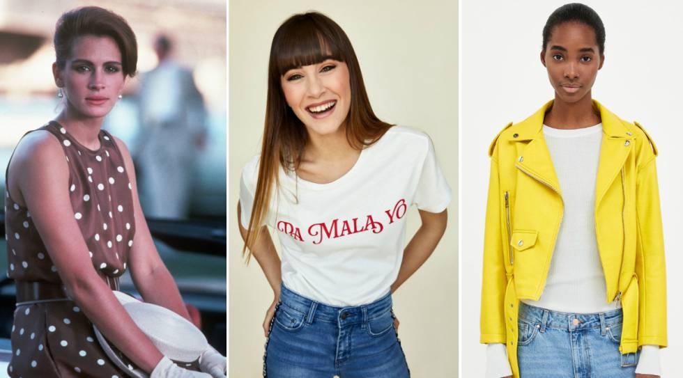 77e16087bd Julia Roberts como Vivian Ward en 'Pretty Woman'; Aitana Ocaña con camiseta  de