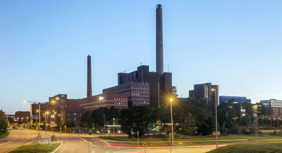 La planta de carbón de la compañía Helen en Salmisaari (Finlandia).